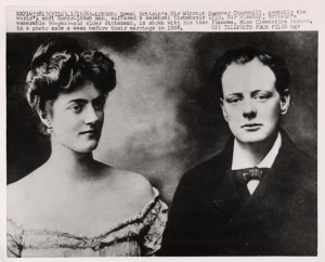 Churchill and Clementine Hozier in 1908