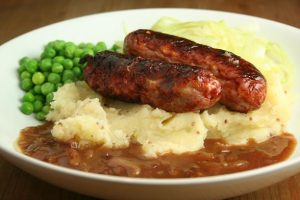 tea-sausage-and-mash