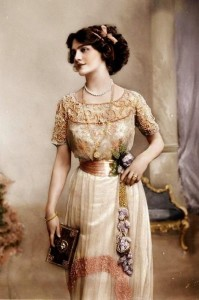 Edwardian tea gown