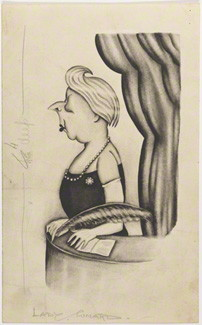 by Anthony Wysard, pencil and watercolour, published 1928
